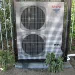 Airconditioning met aan en afvoer van lucht